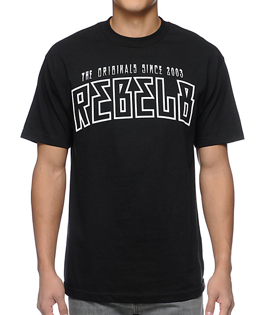 REBEL8 Yester Years Black T-Shirt