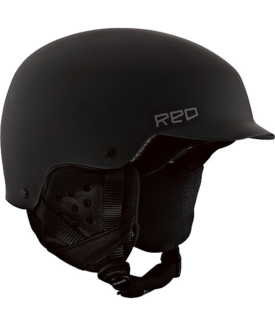 RED Mutiny Black Snowboard Helmet