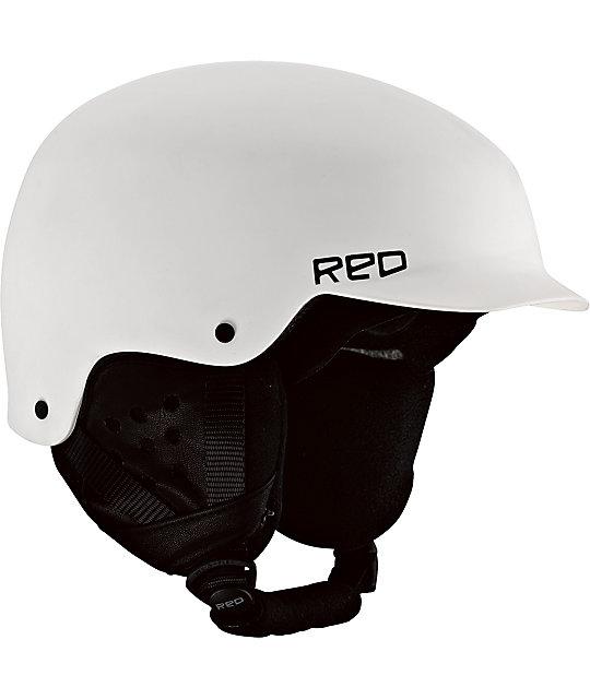 RED Mutiny White Snowboard Helmet