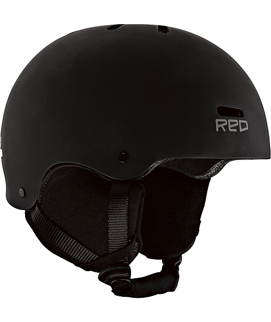 RED Trace Audio Classic Black Snowboard Helmet