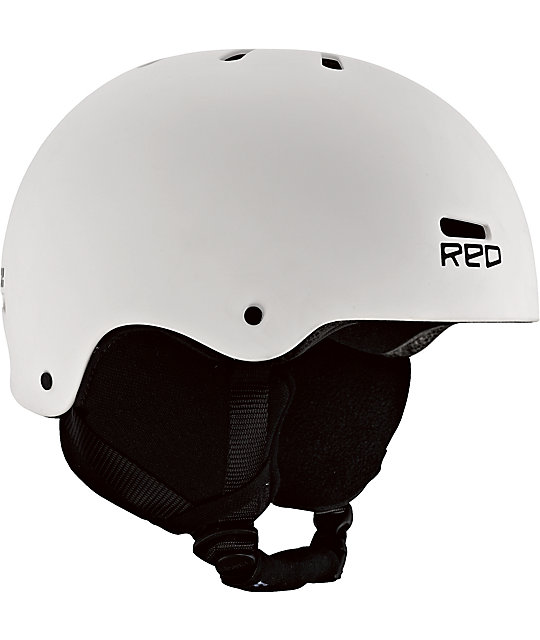 RED Trace Audio Classic White Snowboard Helmet