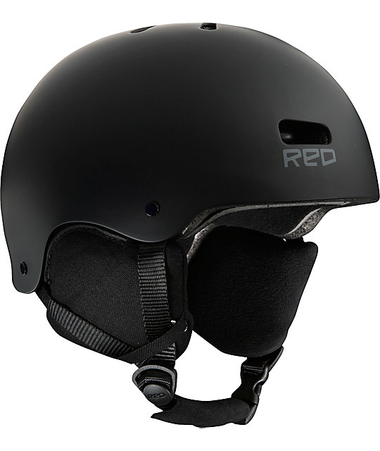 RED Trace Black Classic Audio Snow Helmet