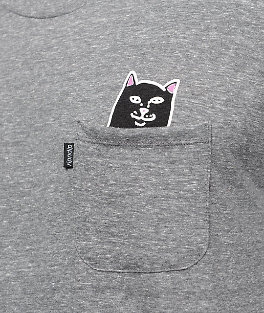 RIPNDIP Lord Jermal Pocket Heather Grey T-Shirt