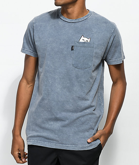RIPNDIP Lord Nermal Grey Pocket T-Shirt