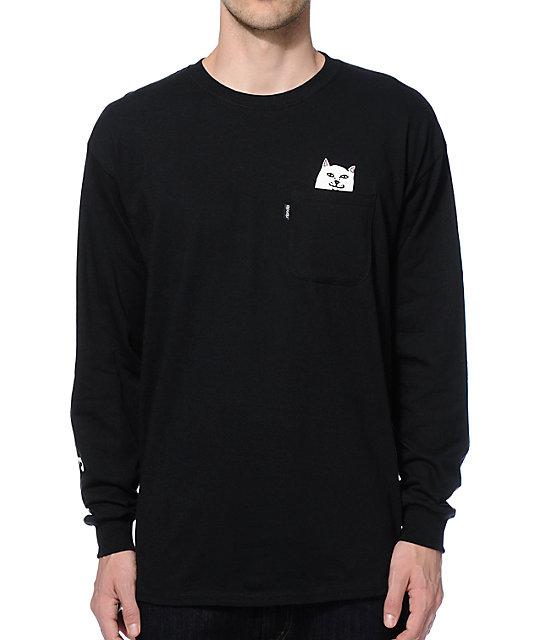RIPNDIP Lord Nermal Long Sleeve Pocket T-Shirt | Zumiez