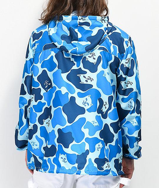 Camuflaje Nerm Chaqueta Ripndip Fanorak Azul De 76bgvfYy