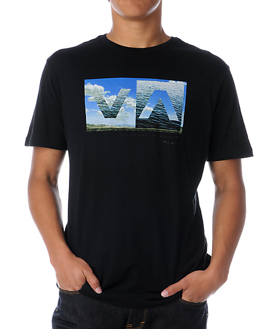 RVCA A to B Box Black T-Shirt
