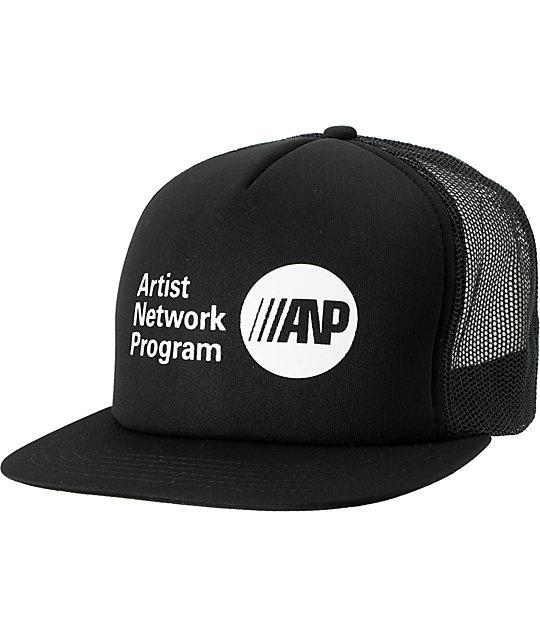 RVCA ANP Black Snapback Trucker Hat