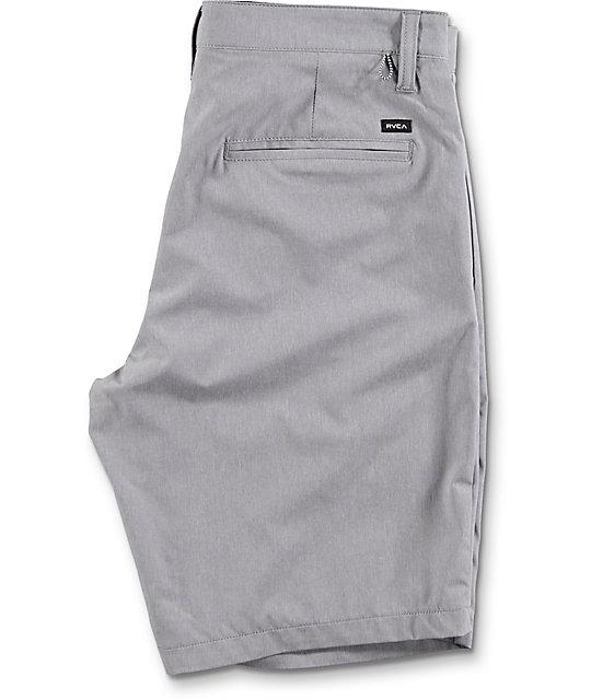 RVCA All The Way Heather Grey Hybrid Board Shorts
