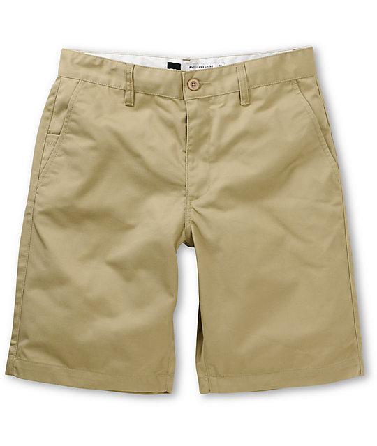 RVCA Americana Classic Fit Khaki Chino Shorts