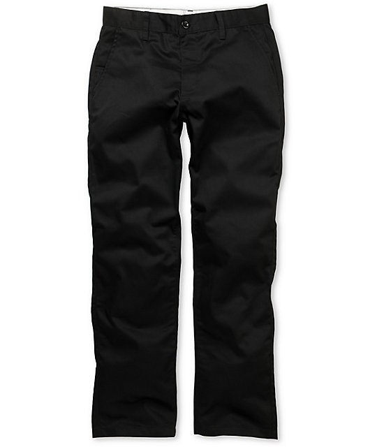 RVCA Americana Regular Fit Black Chino Pants