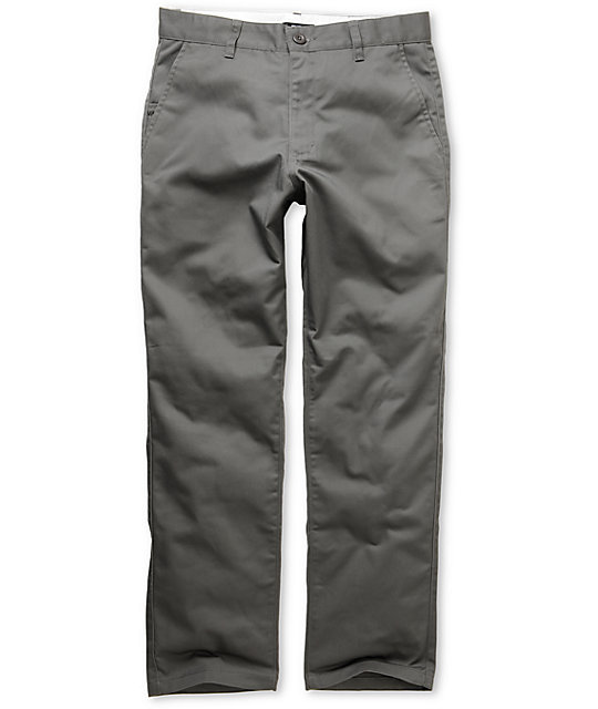 RVCA Americana Regular Fit Grey Chino Pants