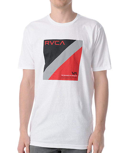 RVCA Balance Flag White T-Shirt