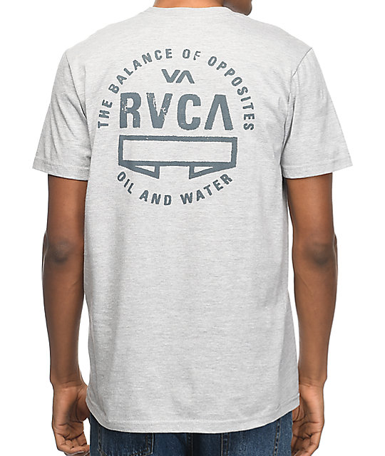 RVCA Balance Seal Grey Pocket T-Shirt