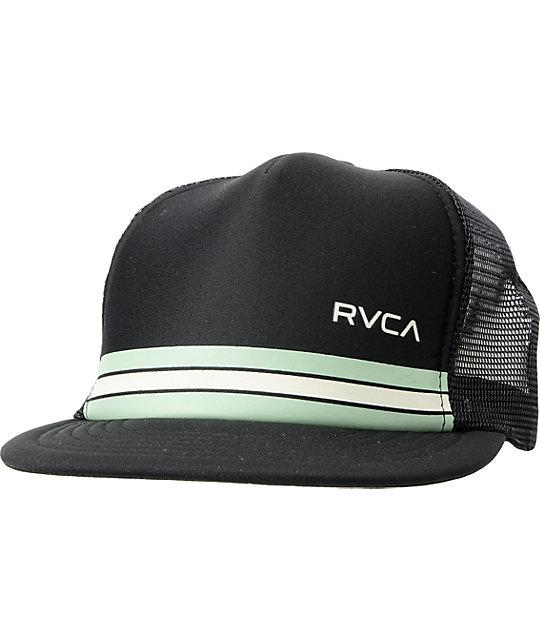 RVCA Barlow Black Trucker Snapback Hat