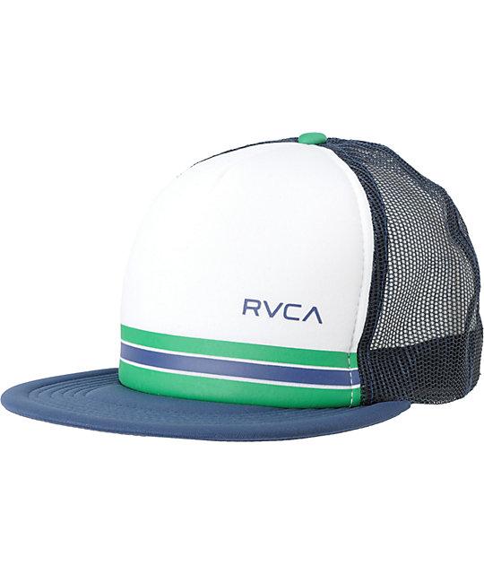 RVCA Barlow Navy Snapback Trucker Hat