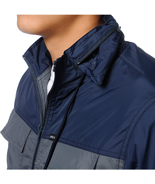 RVCA Bay Breaker Charcoal & Navy Jacket
