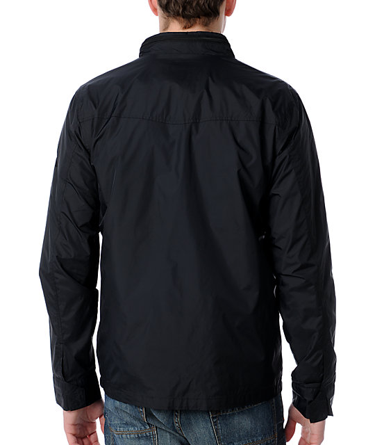 RVCA Baybreaker Black Windbreaker Jacket