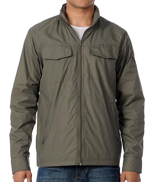 RVCA Baybreaker Olive Windbreaker Jacket | Zumiez