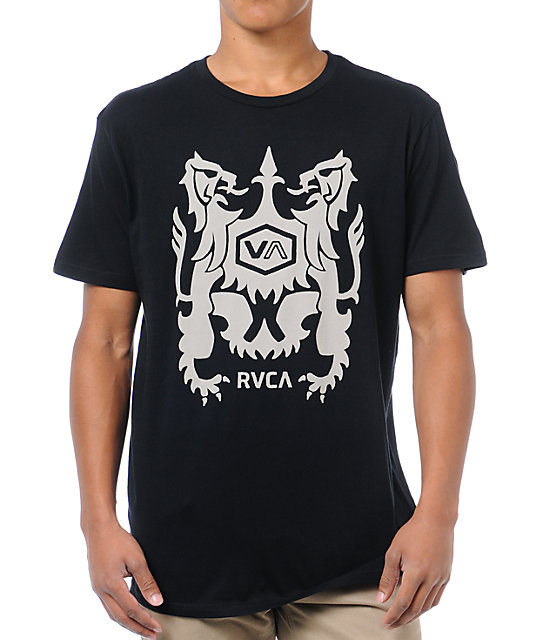 RVCA Beach Crest Black T-Shirt