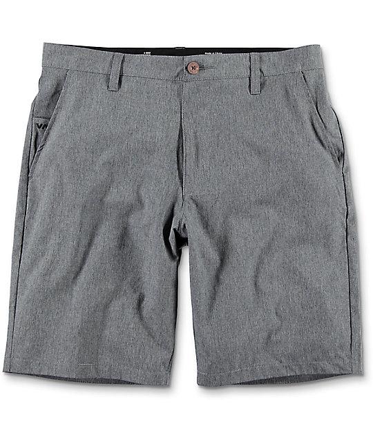 RVCA Benefits Charcoal Hybrid Board Shorts