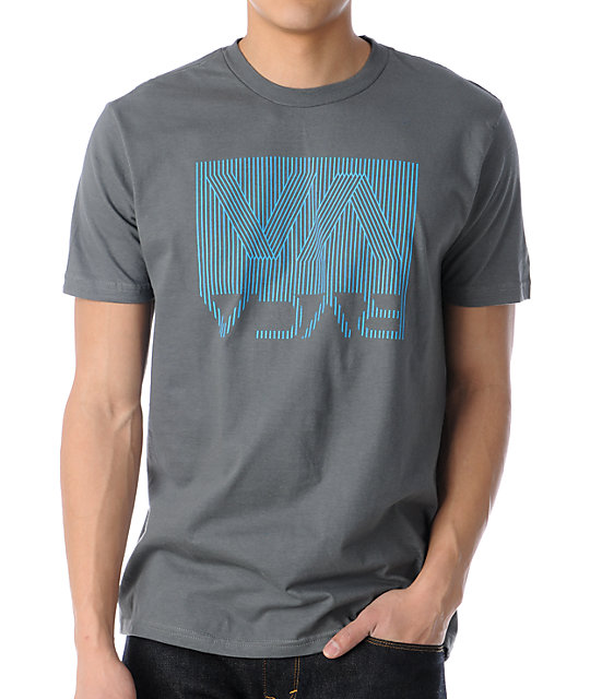 RVCA Bent Stripes Grey T-Shirt