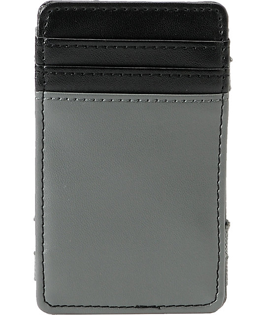 RVCA Black & Grey Magic Wallet