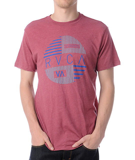 RVCA Blinds Heather Red T-Shirt