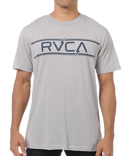 RVCA Bolts Grey T-Shirt