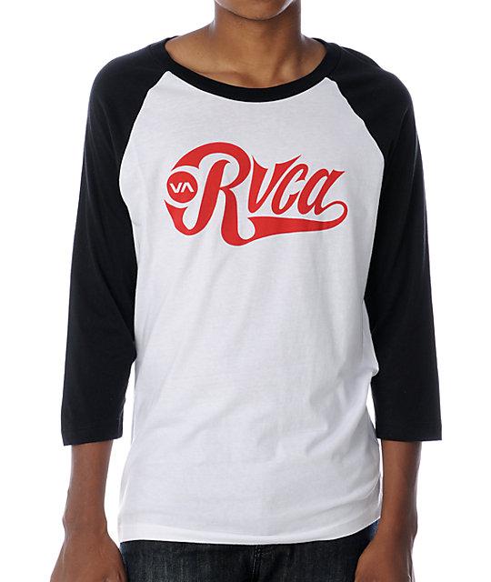 RVCA Bombers 2 Black Baseball T-Shirt