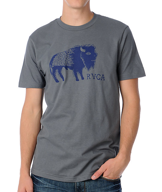RVCA Buffalo Grey T-Shirt