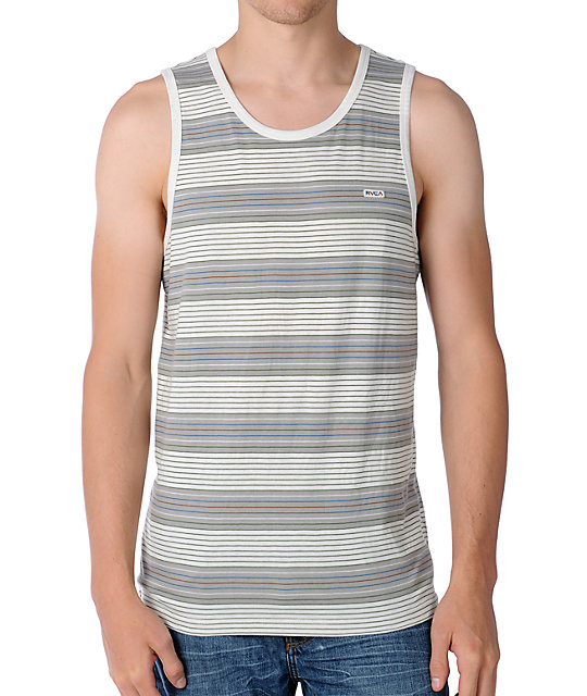 RVCA Burner Natural Stripe Knit Tank Top