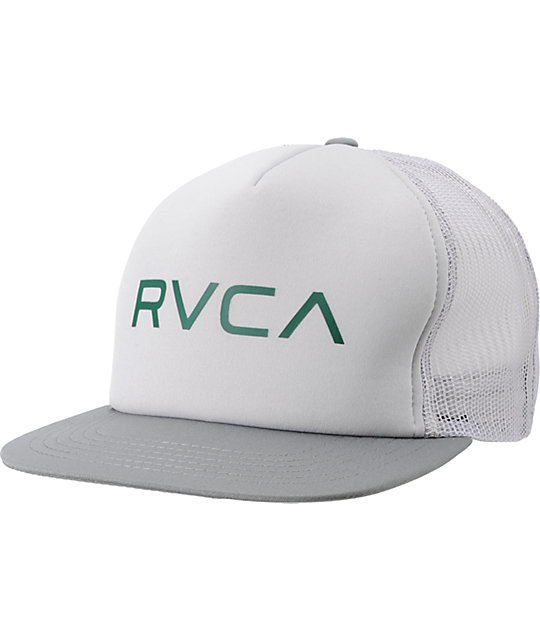 RVCA Cement Grey Snapback Trucker Hat