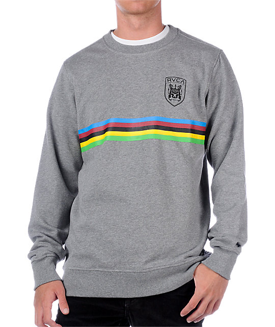 RVCA Champion Grey Crew Neck Sweatshirt
