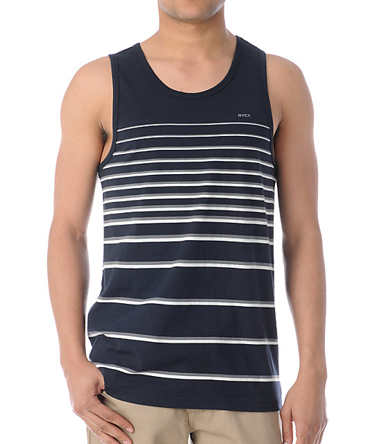 RVCA Charter Navy Stripes Tank Top