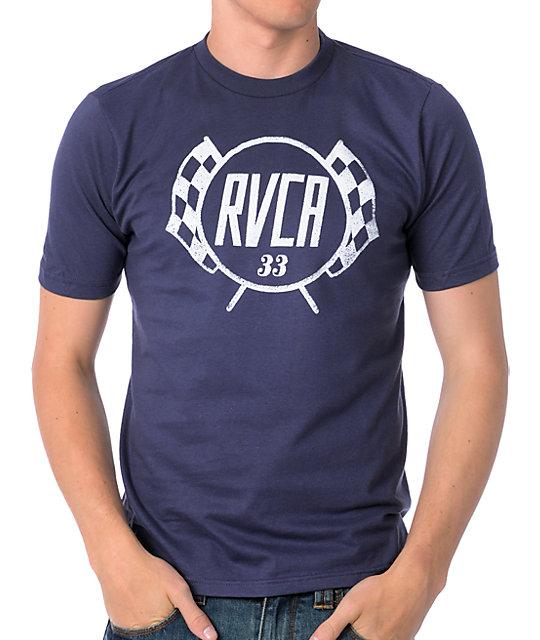 RVCA Checkers Navy T-Shirt