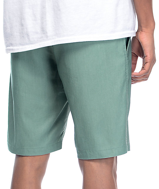 RVCA Control Oxo Light Green Hybrid Board Shorts