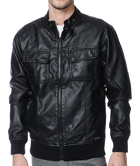 Rvca leather jacket