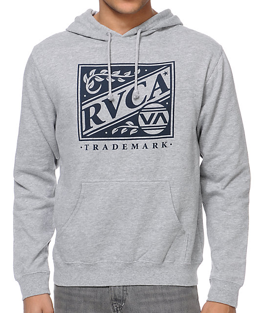 RVCA Crate Grey Pullover Hoodie