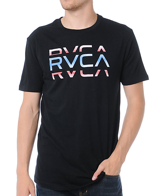 RVCA Cut Black T-Shirt