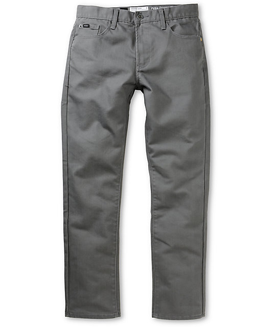 RVCA Daggers Coolmax Grey Slim Fit Jeans