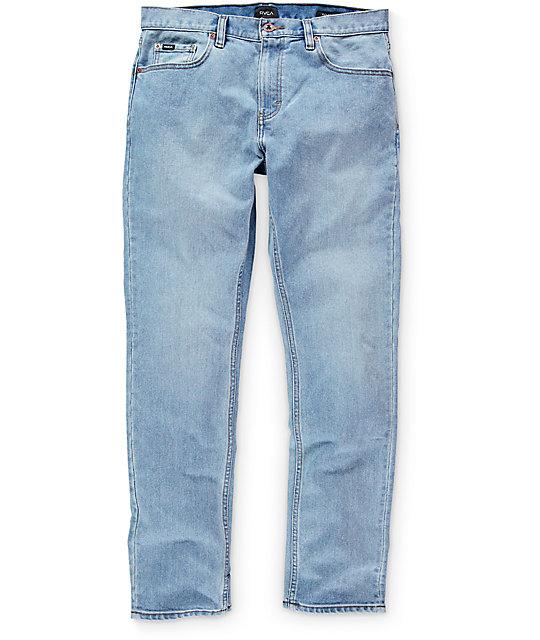 RVCA Daggers Indigo Bleach Slim Fit Jeans