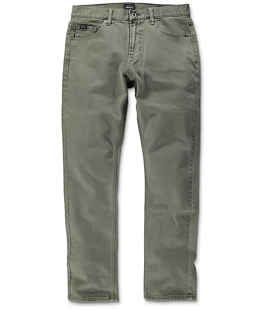 RVCA Daggers Pigment Leaf Slim Fit Jeans
