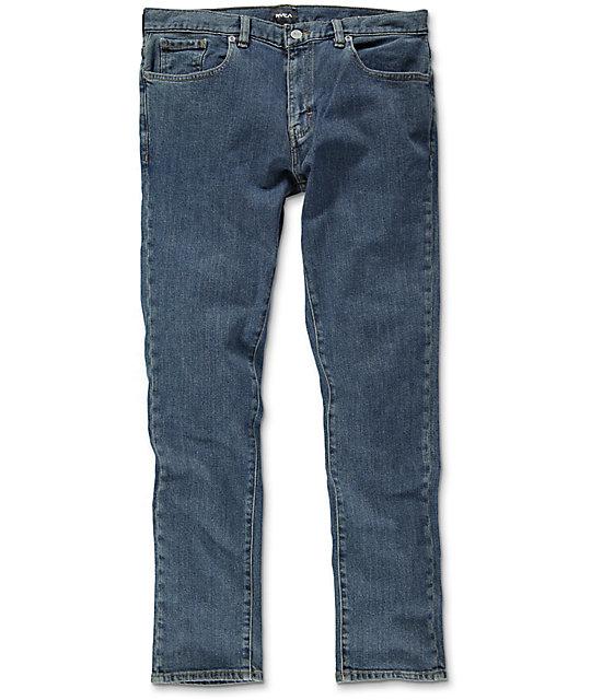 RVCA Daggers Vintage Blue Slim Fit Jeans