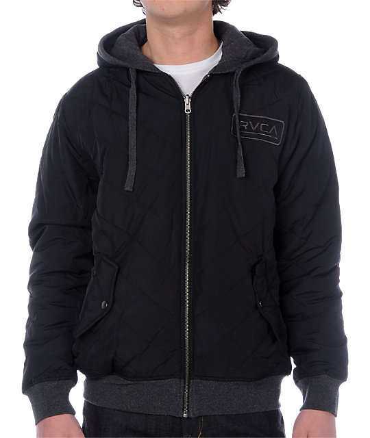 RVCA Decon Charcoal Reversible Jacket