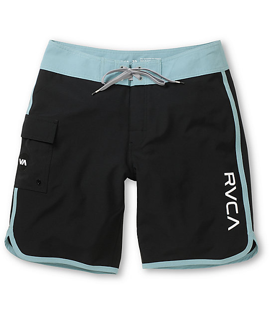 RVCA Eastern 20 Black & Teal Board Shorts