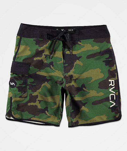 Eastern Shorts Camuflaje Rvca De Baño Oscuro Verde 4cjLS3R5Aq