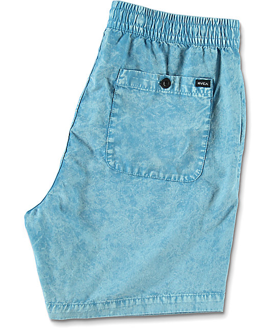RVCA Fade Light Blue Elastic Hybrid Shorts