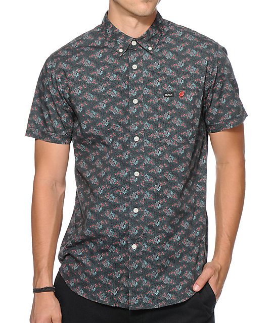 RVCA Fever Flower Button Up Shirt