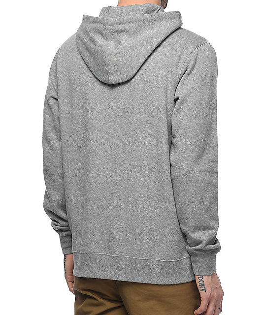 RVCA Flip Box Embroidered Grey Hoodie